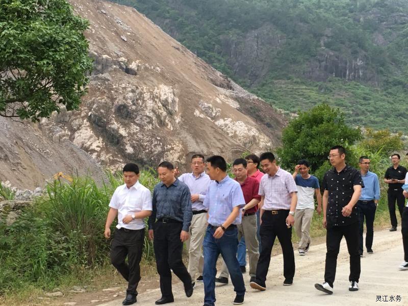 临海市副市长刘庭才,括苍镇主要领导,及方溪水库投资发展有限公司总
