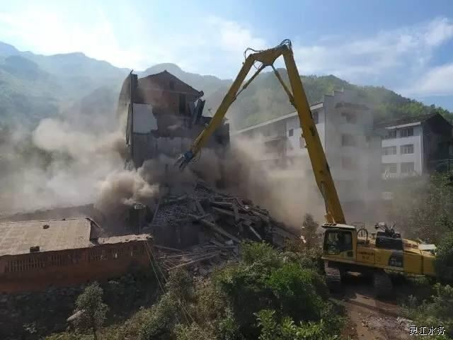 方溪水库移民动迁工程打响民房拆迁第一枪